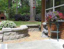 Bloco de parede, Belgard retenção e Paisagem da parede T Lago Design Ambiental Macon, GA