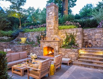outdoor fireplace pictures gallery