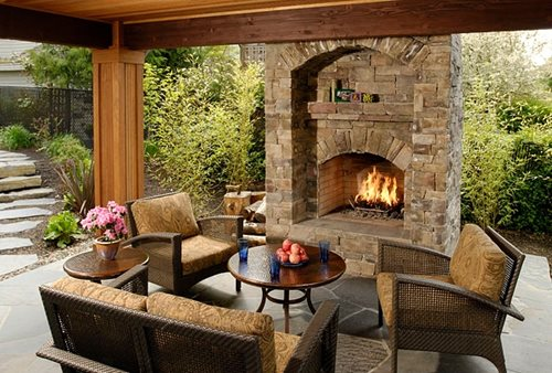 Outdoor Gas Fireplaces - Landscaping Network on Outdoor Kitchen And Fireplace Ideas id=51329