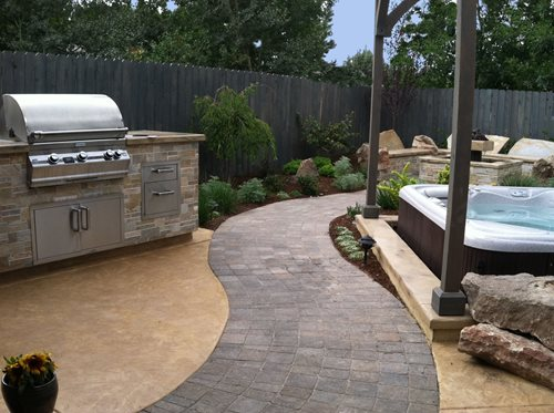 small yard at boise townhome