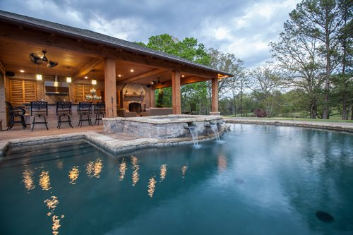 Rustic Mississippi Pool House - Landscaping Network on Outdoor Kitchen By Pool id=22331