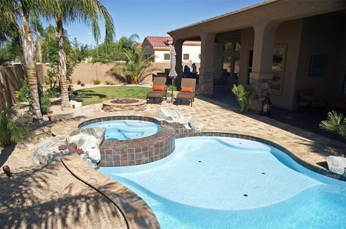 Tropical Arizona Pool - Landscaping Network on Backyard Pool Landscape Designs id=75641