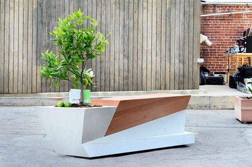 bench planter design