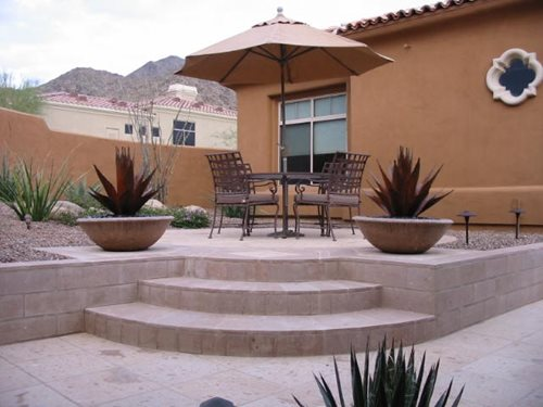 Outdoor Living in Sedona - Landscaping Network on Raised Patio Designs  id=66211
