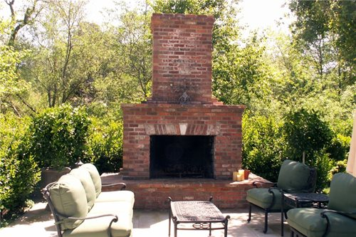 Outdoor Fireplace Design - Landscaping Network on Simple Outdoor Brick Fireplace id=67058