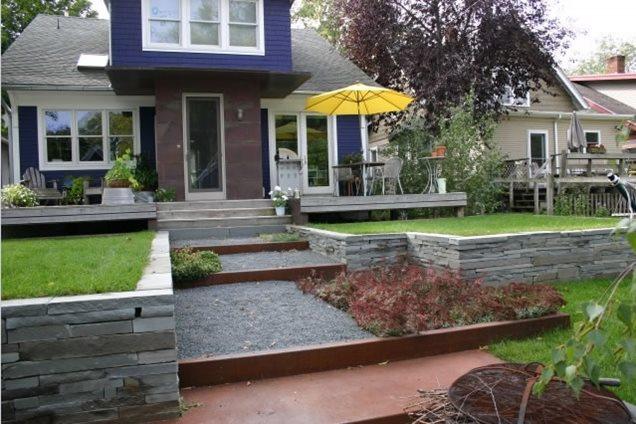 Backyard Landscaping - Minneapolis, MN - Photo Gallery ... on Terraced Front Yard Ideas id=70803