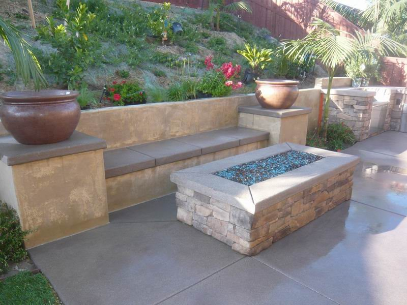 Fire Pit - San Marcos, CA - Photo Gallery - Landscaping ... on Rectangle Patio Ideas id=55703