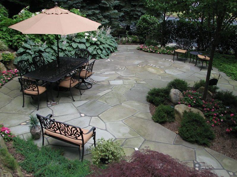 Flagstone Patio - Stony Brook, NY - Photo Gallery ... on Landscaping And Patios  id=29695