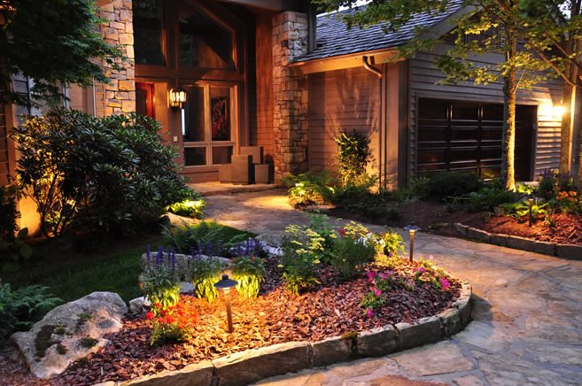 Front Yard Landscaping - Linville, NC - Photo Gallery ... on Mountain Backyard Ideas id=57339