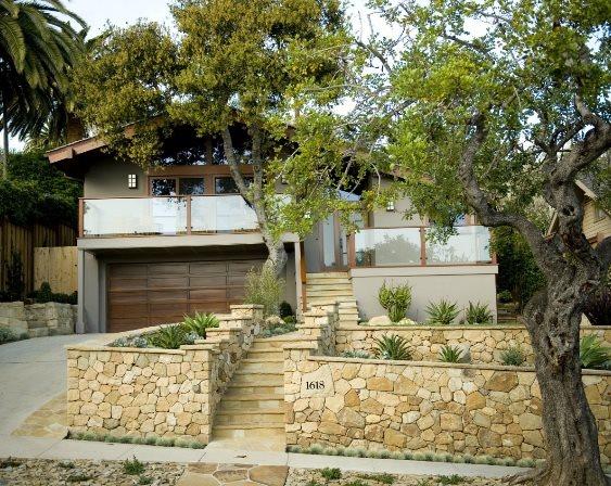 Front Yard Landscaping - Santa Barbara, CA - Photo Gallery ... on Terraced Front Yard Ideas id=36818