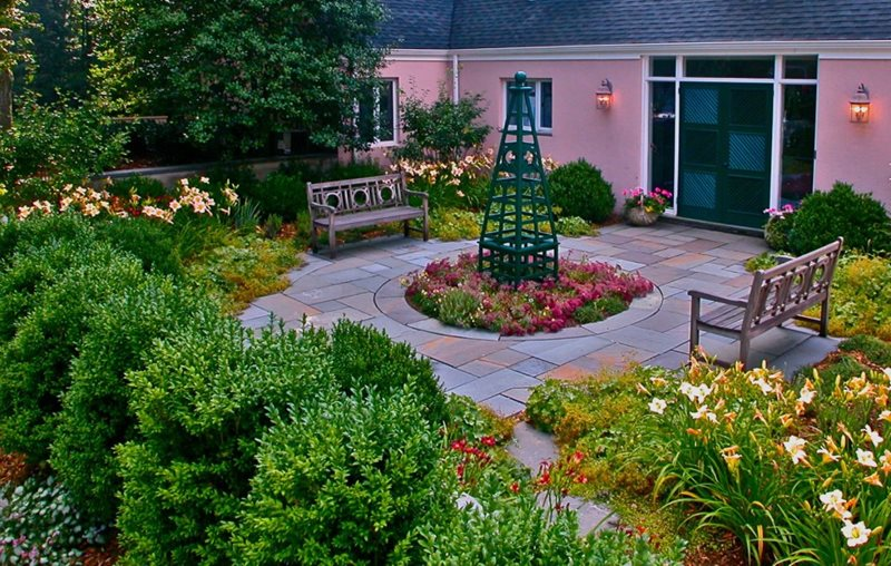 Garden Design - Pittstown, NJ - Photo Gallery ... on Backyard Patio Layout id=52920