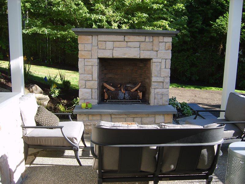 Outdoor Fireplace - Kirkland, WA - Photo Gallery ... on Small Outdoor Fireplace Ideas id=14959
