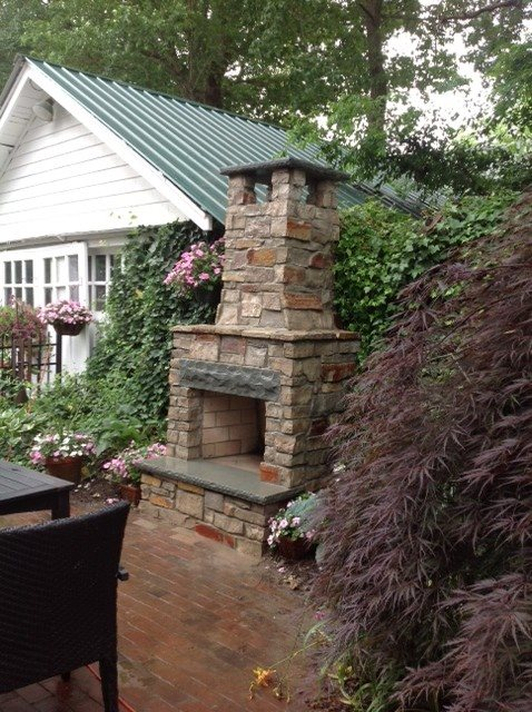 Outdoor Fireplace - Brick, NJ - Photo Gallery ... on Simple Outdoor Brick Fireplace id=84183