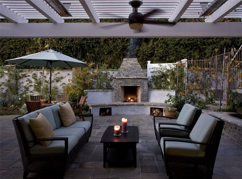 Outdoor Fireplace - Los Angeles, CA - Photo Gallery ... on Small Outdoor Fireplace Ideas id=21218