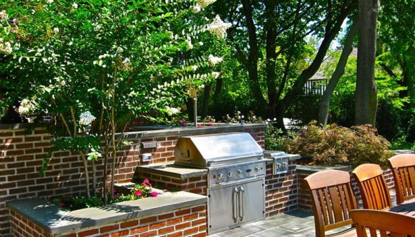 brick patio with outdoor kitchen Outdoor Kitchen - Pittstown, NJ - Photo Gallery