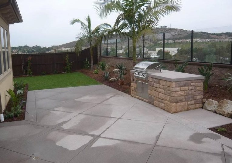 Outdoor Kitchen - San Marcos, CA - Photo Gallery ... on Built In Grill Backyard id=68651