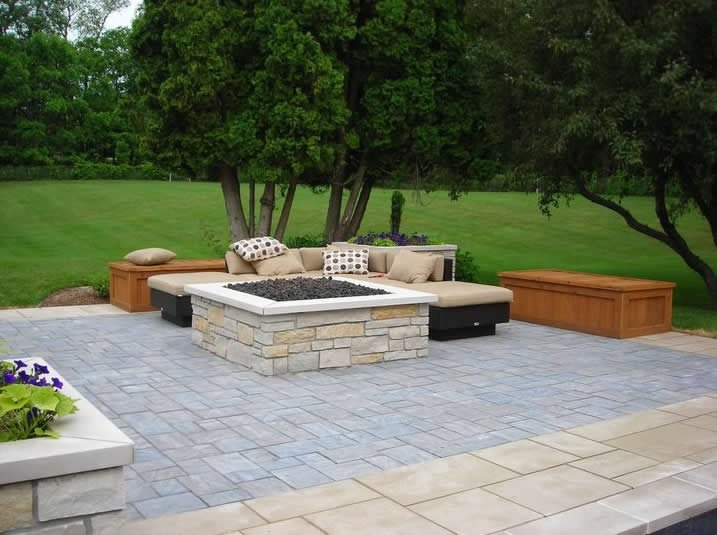 Paver Patio - Grand Rapids, MI - Photo Gallery ... on Paver Patio Designs With Fire Pit id=85972
