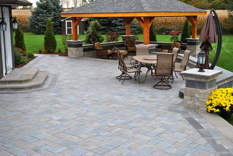 Paver Patio - Whitby, ON - Photo Gallery - Landscaping Network on Outdoor Pavers Patio id=47558