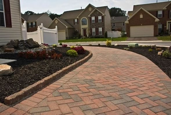 Paver Walkway - Hanover, MD - Photo Gallery - Landscaping ... on Red Paver Patio Ideas id=91025