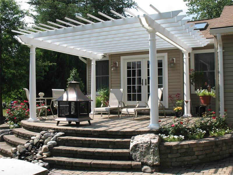 Pergola and Patio Cover - Severn, MD - Photo Gallery ... on White Patio Ideas id=21493