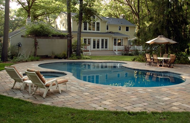 Swimming Pool - Wyckoff, NJ - Photo Gallery - Landscaping ... on Pool Patio Design id=86070