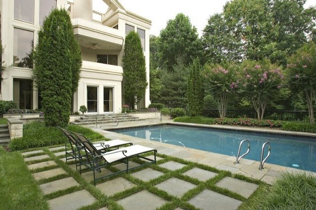 Swimming Pool - Woodbine, MD - Photo Gallery - Landscaping ... on Landscaping Ideas For Rectangular Backyard  id=63130
