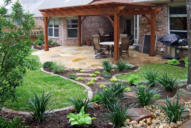 Texas Landscaping - Dallas, TX - Photo Gallery ... on Back Patio Landscaping id=80231