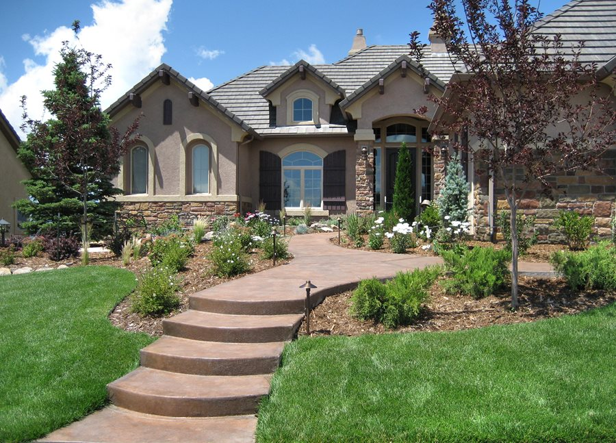 Formal vs. Informal Front Yard - Landscaping Network on Concrete Front Yard Ideas id=62855