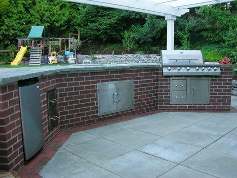 brick patio with outdoor kitchen Brick Barbeque Veneer - Landscaping Network