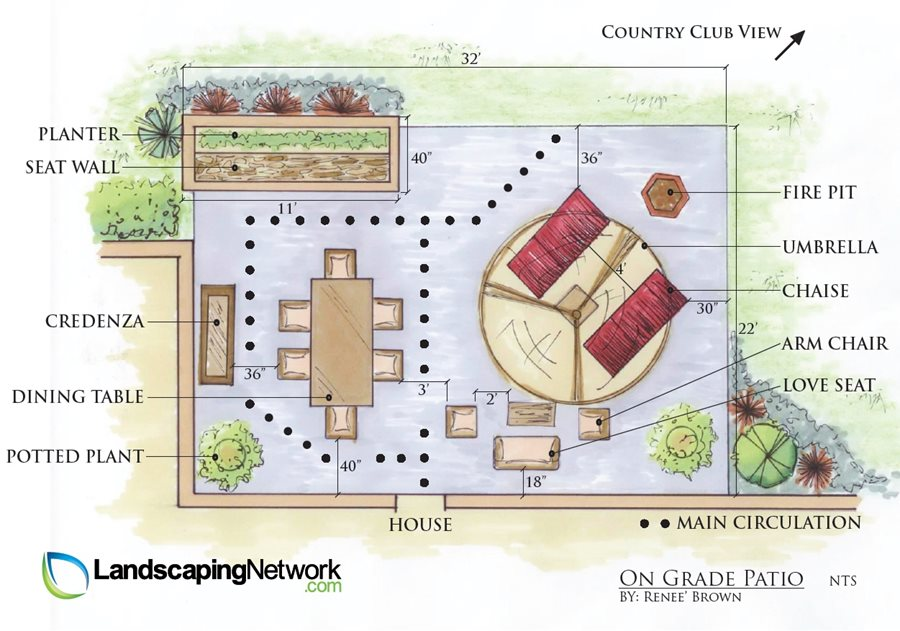 Patio Layout Ideas - Landscaping Network on Backyard Layout Planner id=17918
