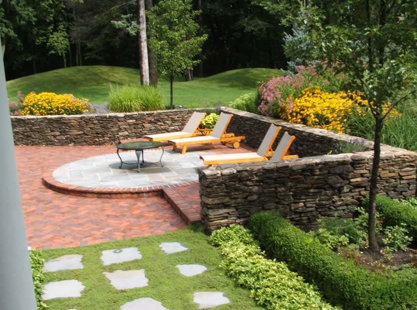 Patio Walls & Steps - Landscaping Network on Patio Stone Wall Ideas id=75837