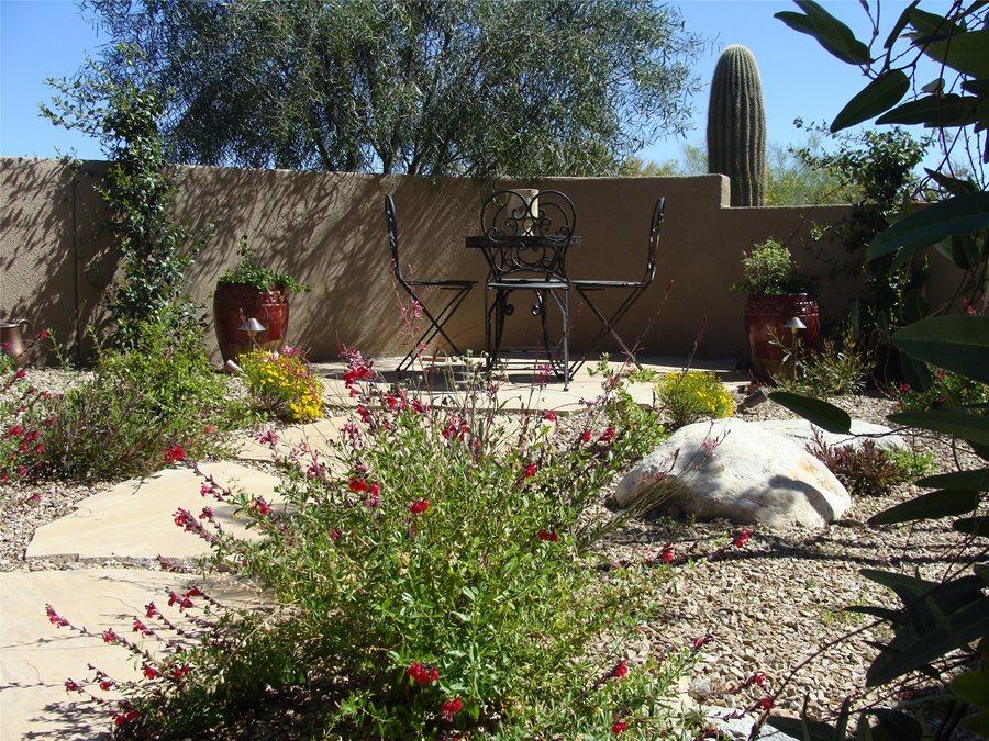 Colorful Desert Courtyard - Landscaping Network on Desert Landscape Ideas For Backyards id=64532