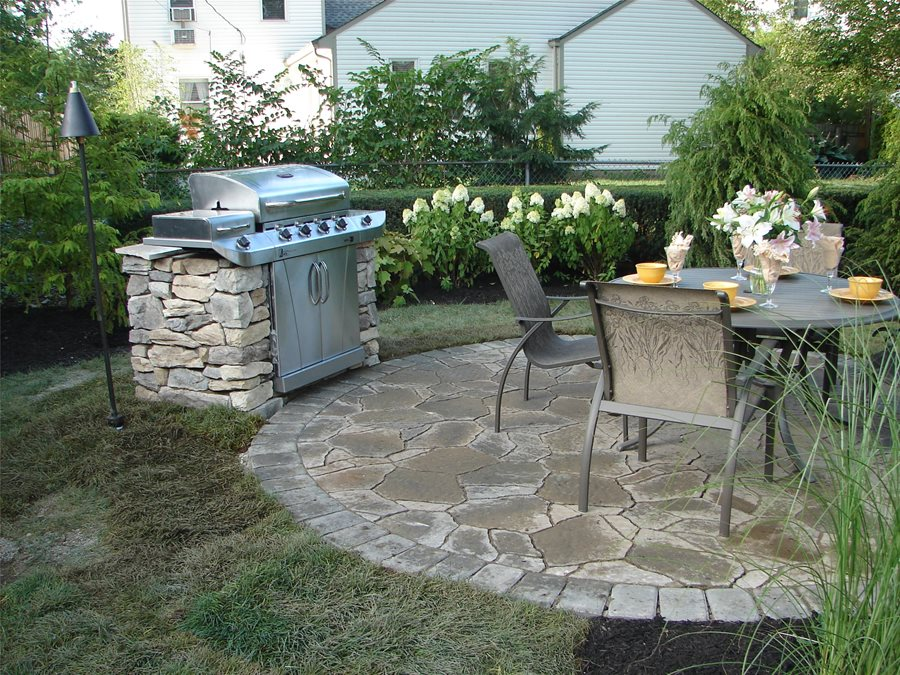 Selecting a Patio Shape - Landscaping Network on Small Backyard Stone Patio Ideas id=55752