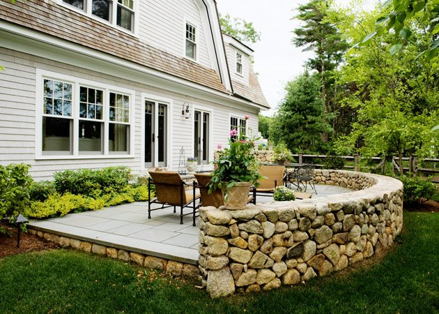 Patio Landscape Ideas - Landscaping Network on Patio Stone Wall Ideas id=98163