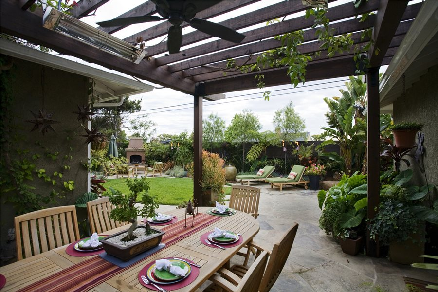 mounted pergola heaters landscaping