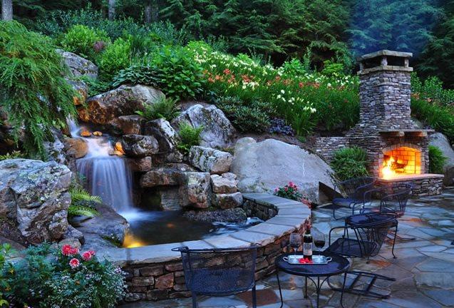Backyard Waterfall Design Ideas - Landscaping Network on Small Backyard Pond With Waterfall  id=75856