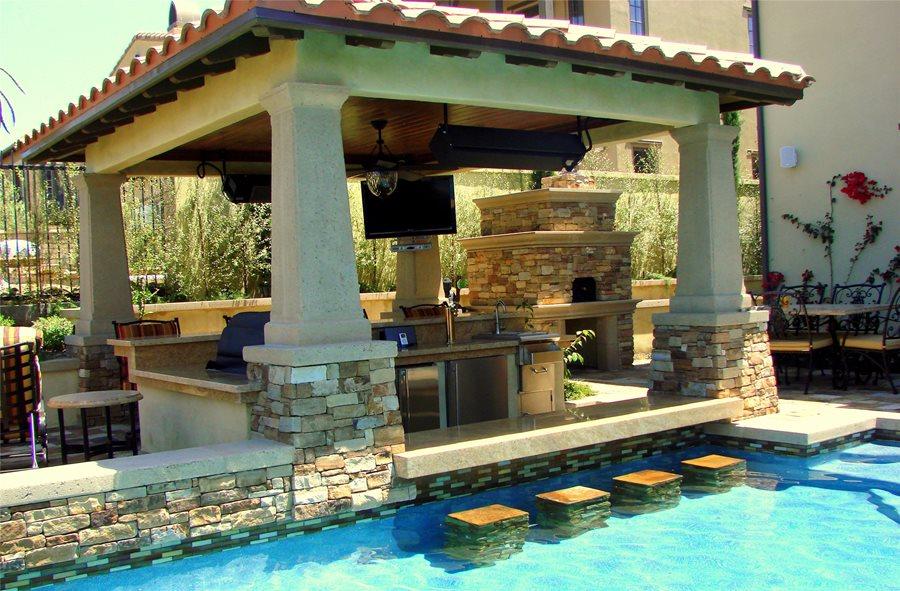 Swim-Up Bar: Pro Tips - Landscaping Network on Backyard Pool Bar Designs  id=32741