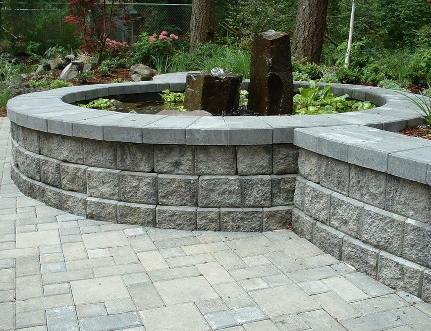 Retaining Wall Blocks - Landscaping Network on Backyard Cinder Block Wall Ideas id=35072