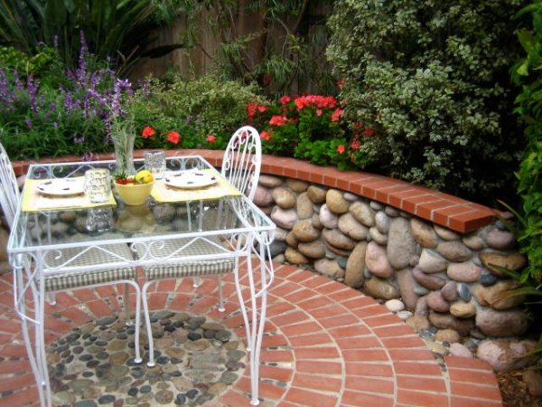 backyard stone patio design ideas Brick Patio Ideas - Landscaping Network