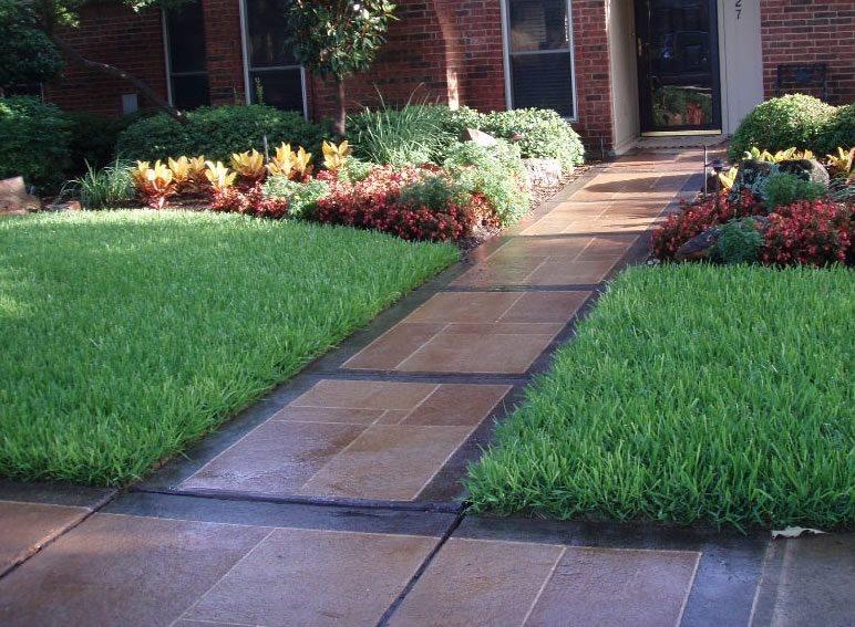 Sidewalk Design & Landscaping - Landscaping Network on Backyard Walkway Ideas id=34938