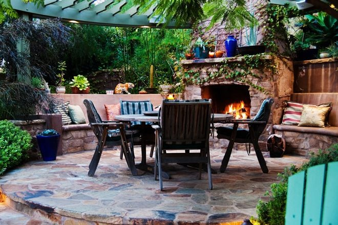 Fire Pits Versus Fireplaces - Landscaping Network on Fireplace In Yard  id=19001