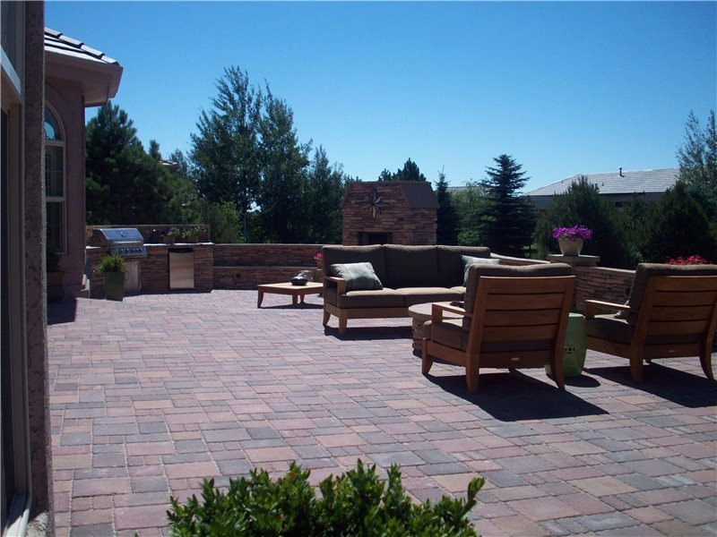 terraced backyard design with radius