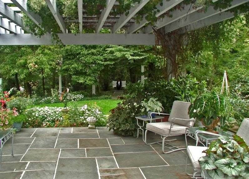 Flagstone Patio - Benefits, Cost & Ideas - Landscaping Network on Back Patio Landscape Ideas id=69585