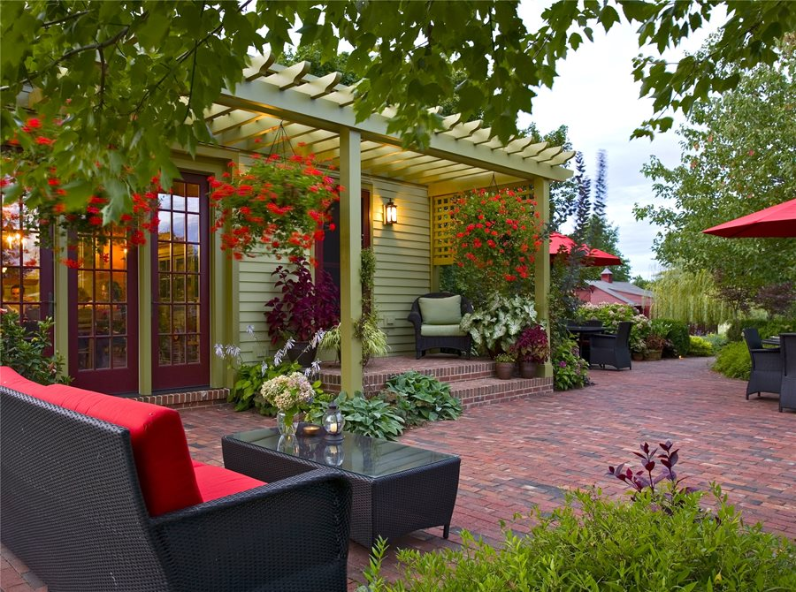 Brick Patio Ideas - Landscaping Network on Small Backyard Brick Patio Ideas  id=71626
