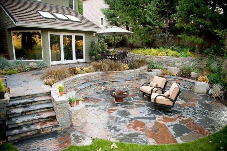 Flagstone Patio - Benefits, Cost & Ideas - Landscaping Network on Patio Stone Wall Ideas id=35000