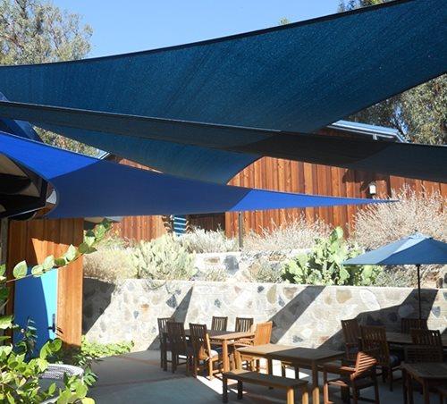Backyard Shade Sails - Landscaping Network on Shady Yard Ideas  id=31460