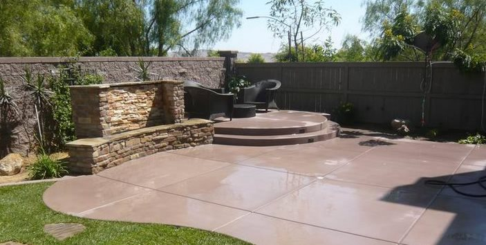 Concrete Patio - Design Ideas, and Cost - Landscaping Network on Backyard Concrete Patio Designs  id=30832