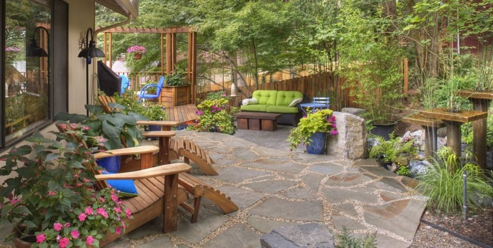 Flagstone Patio - Benefits, Cost & Ideas - Landscaping Network on Patio And Grass Garden Ideas id=29766