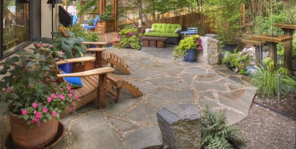 landscaping garden design ideas Flagstone Paving Ideas - Landscaping Network