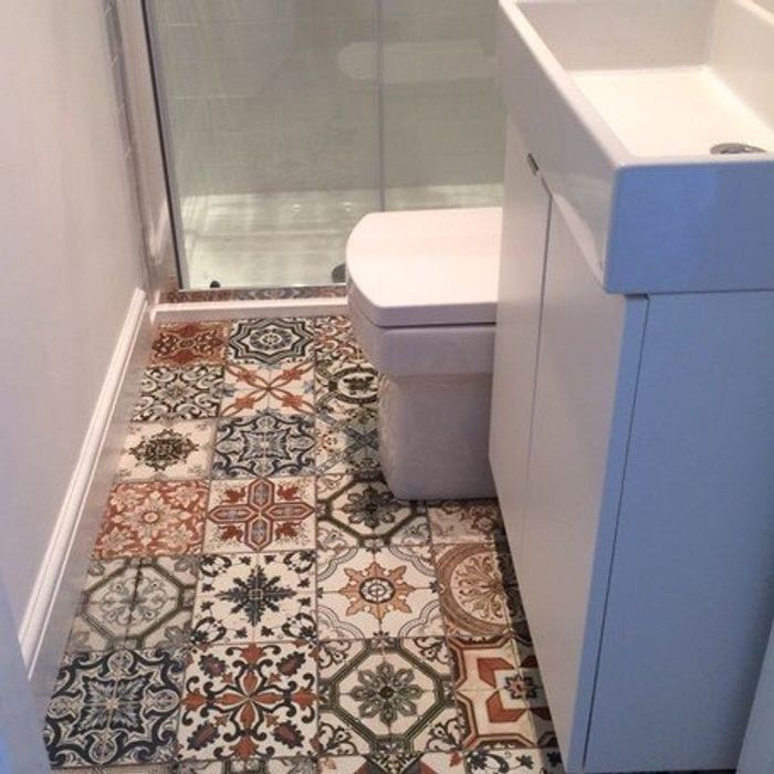 sample patchwork tiles in multi colours